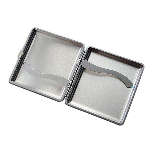 Boshiho metal cigarette case for men coverd with pu - Porta pacchetto sigarette amazon ...