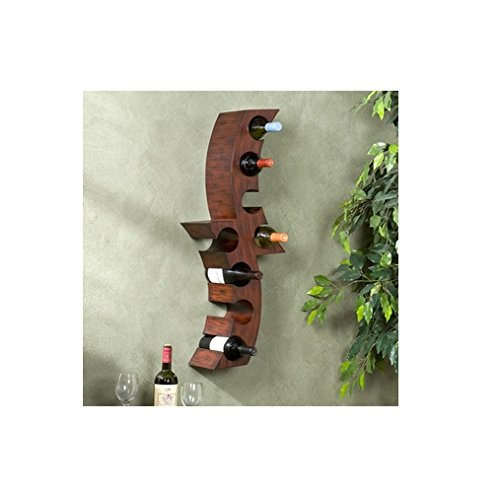 Wall-Mounted Curved Wine Storage Rack front-4636