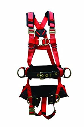 Elk River 66642 EagleTower Polyester/Nylon QC-XT 6 D-Ring Harness with Quick-Connect Buckles, Medium