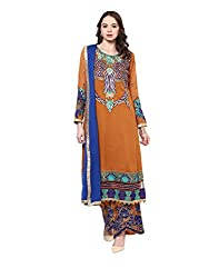 Yepme Women's Yellow Blended Semi Stitched Suit - YPMRTS0240_Free Size