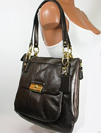 NEW AUTHENTIC COACH KRISTIN LEATHER NS TOTE (Bronze/Brass/18808): Clothing