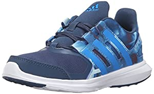 adidas Performance Boys' Hyperfast 2.0 K Running Shoe, Mineral Blue/Shock Blue/White, 11.5 M US Little Kid