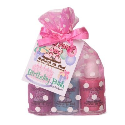 Piggy Paint Birthday Bash Gift Set - 3 Great Polishes: Forever Fancy, Sea-quin and Girls Rule! The Kid-Friendly, Non-Toxic Nailpolish!