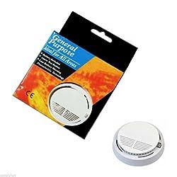 Coco Digital White Wireless Home Security Smoke Detector Fire Alarm Sensor System Cordless by Coco Digital