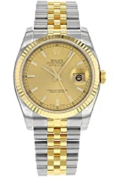 Rolex Datejust 116233 CHSJ Steel & 18K Yellow Gold Automatic Men's Watch