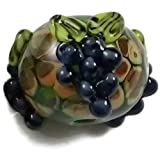 Lampwork Glass Bead Round Wine Country Grape