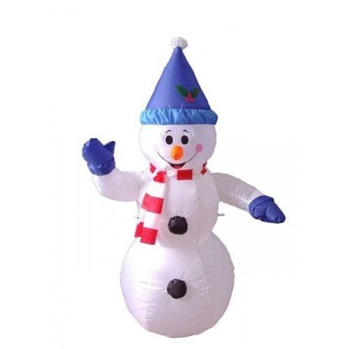 4' Airblown Inflatable Happy Snowman Lighted