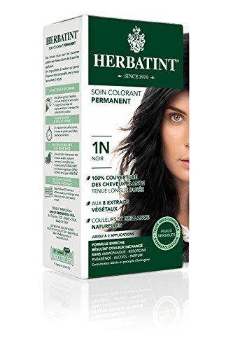 Herbatint Permanent Herbal Hair Color Gel, 1N Black, 4.56 Ounce (Vegetal Hair Dye compare prices)