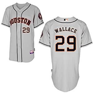 Brett Wallace Houston Astros Road Authentic Cool Base Jersey by Majestic by Majestic