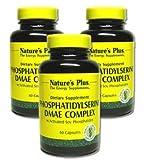 ホスファチジルセリン DMAE 60粒3本セット Phosphatidylserine DMAE Complex ベジカプセル[海外直送品]