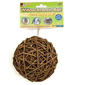 Ware Manufacturing Willow Branch Small Pet Ball Chew, 4-Inch