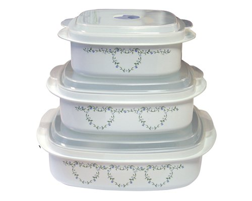 Corelle Coordinates 6-Piece Country Cottage Microwave Cookware Set