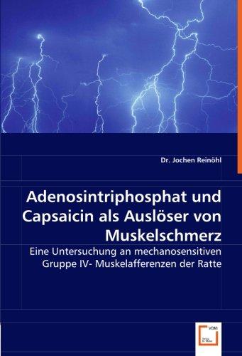 Adenosintriphosphat und Capsaicin als Auslöser von Muskelschmerz: Eine Untersuchung an mechanosensitiven Gruppe IV- Muskelafferenzen der Ratte