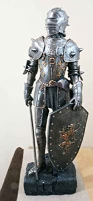 """Large 28.75""""H Medieval Suit of Armor Statue Home Decor Figurine Knight"""