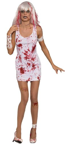 Sexy Bloody Dress Zombie Costume - Womens Std.