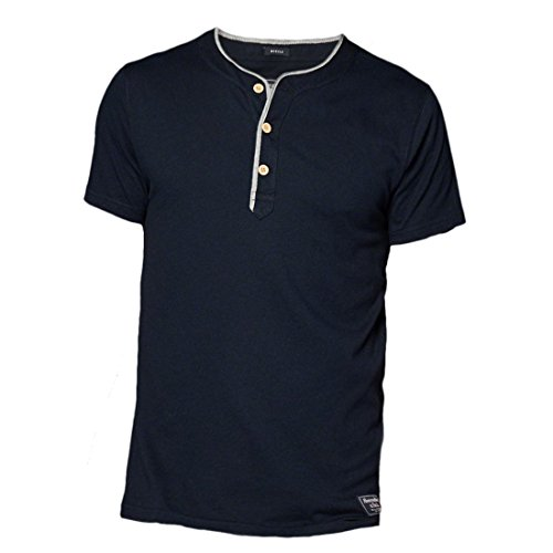 abercrombie-mens-vintage-athletic-slim-fit-henley-tee-t-shirt-size-l-navy-623750254
