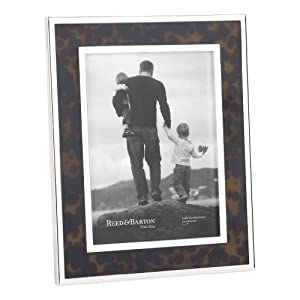 Reed & Barton 7257 Tortoise Silver Plate Picture Frame, 5-Inch by 7-Inch