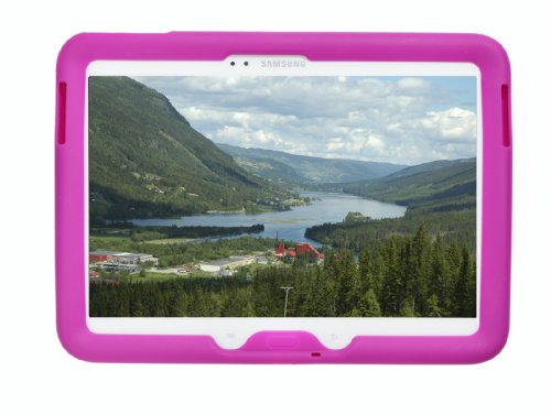 Bobj Rugged Case for Samsung Galaxy Tab 3 10.1 Tablet, Models GT-P5200, GT-P5210, GT-P5220 - BobjGear Protective Silicone Tablet Cover (Rockin' Raspberry) (Fun Models compare prices)