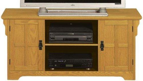 Cheap Craftsman Wood door Wide screen Tv Stand With Open Storage (B001XZX8H8)