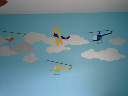 Cloud Wall Stencils For Painting Clouds In Baby Room And Kids Room