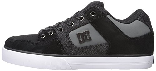 DC Men's Pure SE Skate Shoe, Black Destroy Wash, 11 M US