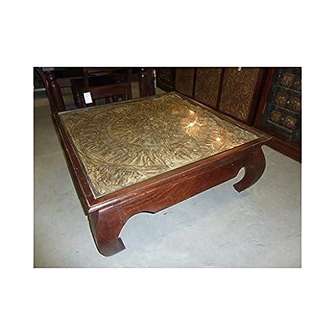 int. d'ailleurs - tavolino da caffè TRIBAL 100x100x40 cm - PAL226