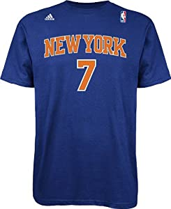 NBA New York Knicks Blue The Go To Tee Carmelo Anthony #7, Large