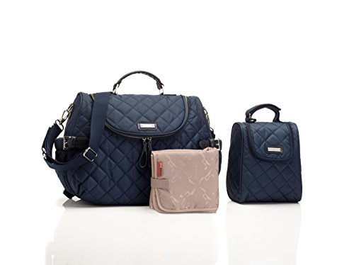 Storksak Poppy Convertible Back Tote Bag, Navy - 1