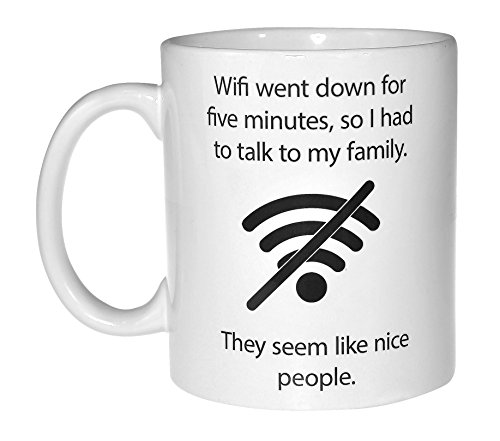 Wifi Quote Funny Coffee or Tea Mug - Geek and Computer Nerd Gift