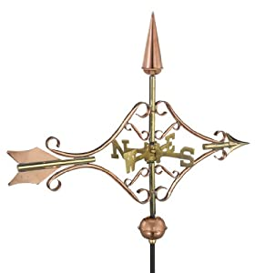 Good Directions 8842PG Victorian Arrow Garden Weathervane with Garden Pole, Polished Copper