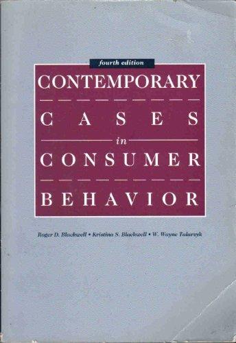 Contemporary Cases in Consumer Behaviour