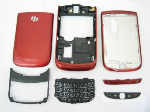 Blackberry Torch 9800 - Original Red Housing Cover Door Case Frame Fascia Plate - Mobile Phone Repair Parts Replacement (Torch 9800 Housing compare prices)