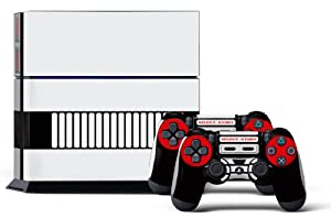 PS4 Console Designer Skin for Sony PlayStation 4 System plus Two(2) Decals for: PS4 Dualshock Controller Controlled