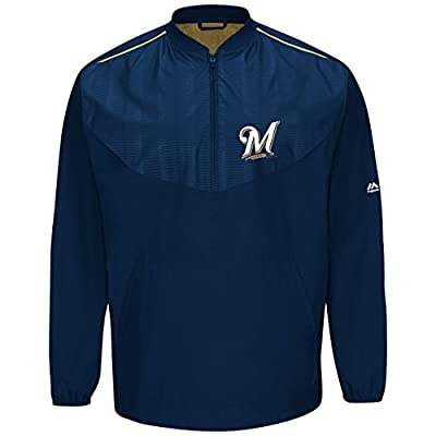 Milwaukee Brewers Majestic MLB Authentic Cool Base On-Field Training Jacket