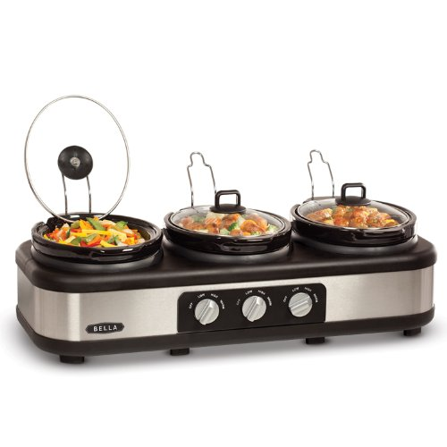 3 X 2.5QT Triple Slow Cooker with Lid Rests