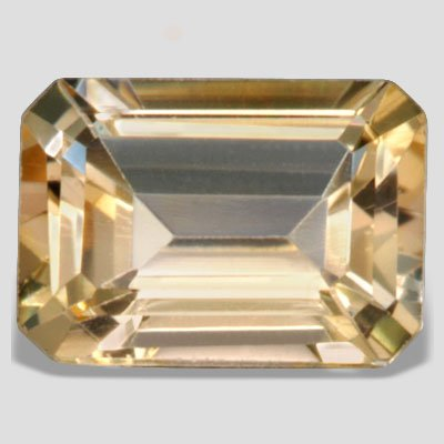 7X5 mm Perfect Orange Color Emerald Cut Citrine Loose Gemstone 1.00ct SI Clarity