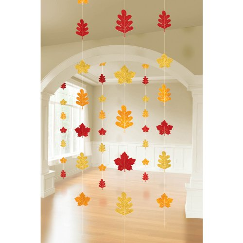 Fall Leaf Hanging String Decorations - 1