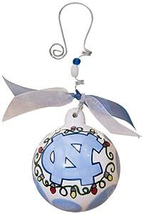 Hand Painted Porcelain Collegiate Ornament (University of North Carolina)