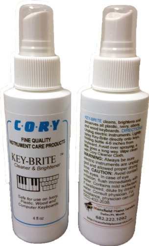 Great Deal! Key-Brite Piano Key Cleaner 4 oz by Cory, Distributed by A Fully Authorized Cory Product...