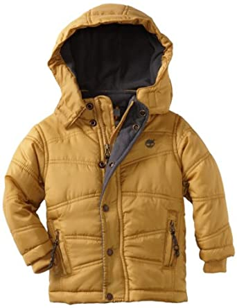 Timberland Boys 2-7 Metro Bubble Jacket, Gold, 2T