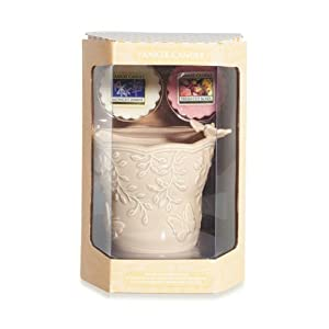 yankee candle floral tart warmer and 2 tarts jars gift set. Black Bedroom Furniture Sets. Home Design Ideas