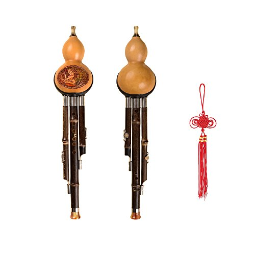 dream-amy-professional-hulusi-c-key-3-octaves-gourd-flute-woodwind-with-box