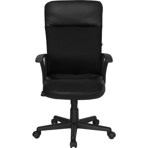 Black Leather Mesh Combination Executive Swivel Office Chair Online