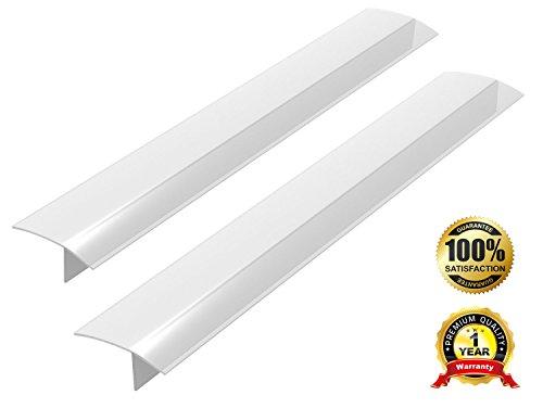 #1 Stove Counter Gap Cover, ITEMporia Set of 2 Translucent White Matte Stove Gap Filler - Premium Silicone Oven Spill Guard (30 Counter Top Stove compare prices)
