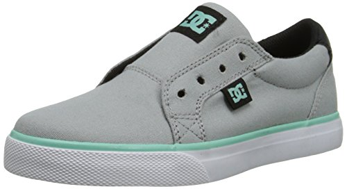 DC Council Slip TX Skate Shoe (Little Kid/Big Kid), Light Grey/Black, 11 M US Little Kid