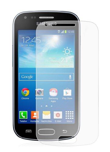 6 x Membrane Displayschutzfolie Samsung Galaxy Trend Plus (GT-S7580) - Kristallklar Unsichtbar Aufkleber Schutzfolie, Verpackung und Zubehör