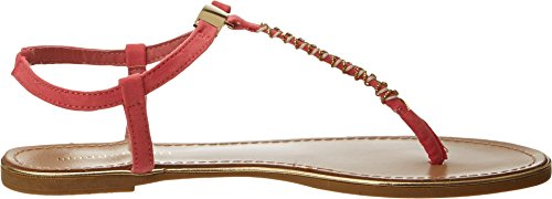 Madden Girl Women's Mellowed Dress Sandal,Coral Fabric,8.5 M US