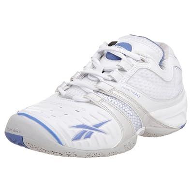 Amazon.com Reebok Womenu0026#39;s KFS Pump Advantage Tennis ShoeWhite/Steel/Blue7 M Shoes