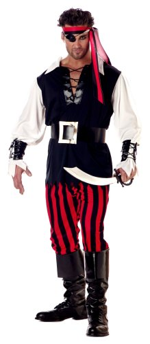 California Costume Men's Adult-Cutthroat Pirate, Black/Red/White, L (42-44)