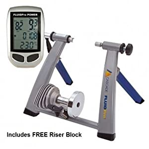Cascade Health & Fitness Fluidpro Power Bike Trainer, Dark Blue/Silver